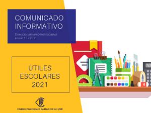 Resolución rectoral N° 13 lista y útiles escolares 2021